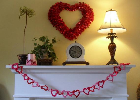 Marvelous 65  Gorgeous  Valentineu0027s  Day  Mantel  Décor  Ideas_03