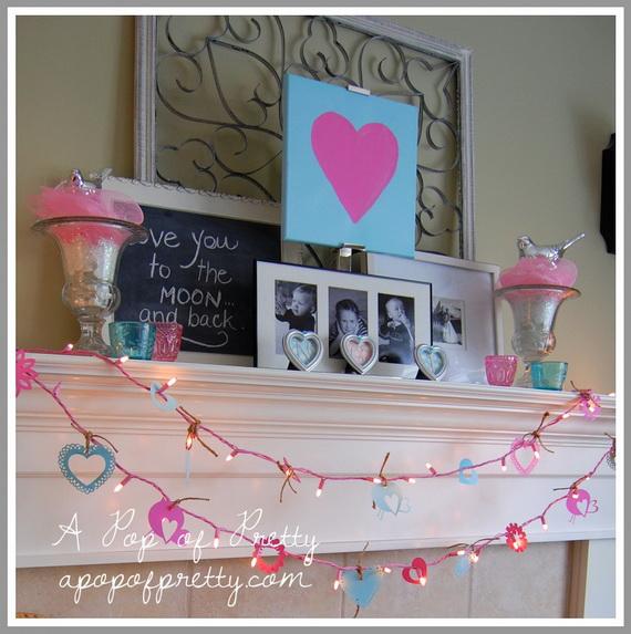 65 -Gorgeous- Valentine's- Day- Mantel- Décor- Ideas_07
