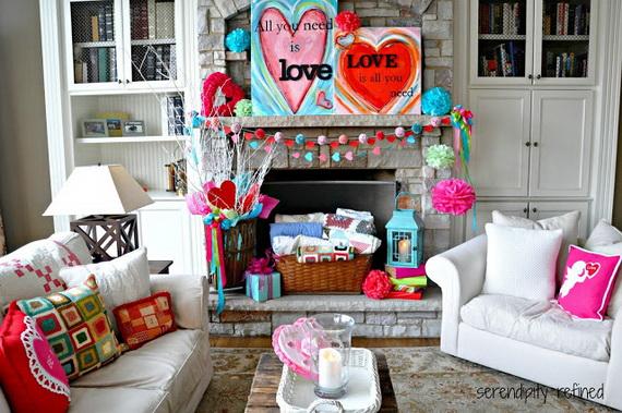 65 -Gorgeous- Valentine's- Day- Mantel- Décor- Ideas_17