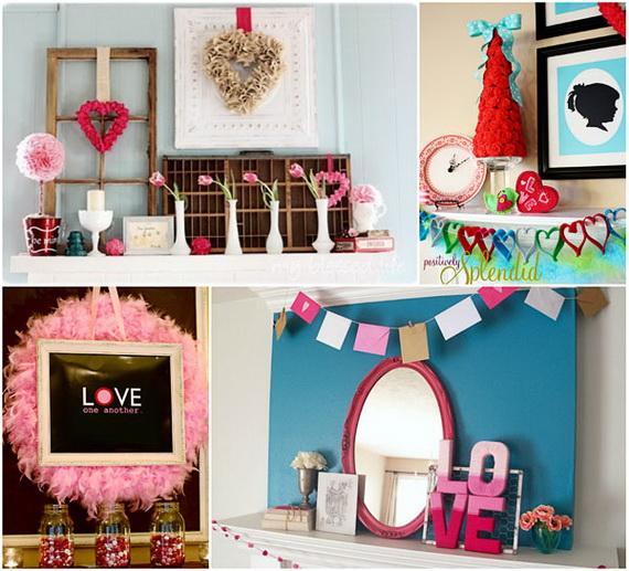 65 -Gorgeous- Valentine's- Day- Mantel- Décor- Ideas_19