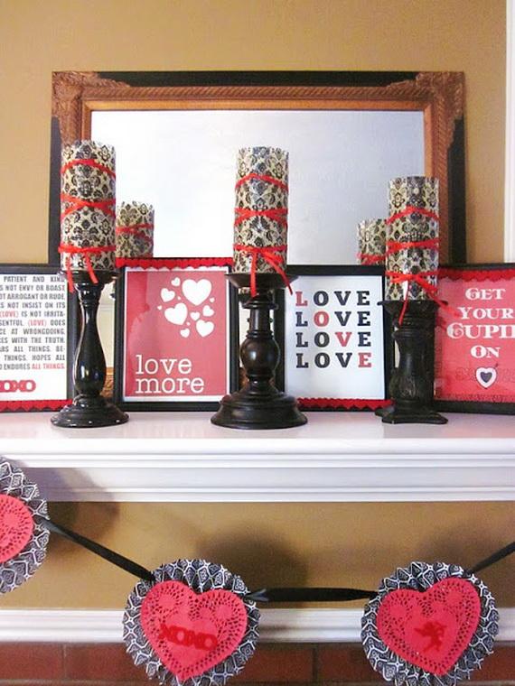 65 -Gorgeous- Valentine's- Day- Mantel- Décor- Ideas_36