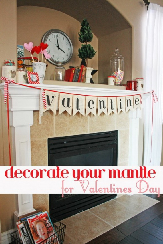 Gorgeous Valentine S Day Mantel Decor Ideas Family Holiday Net