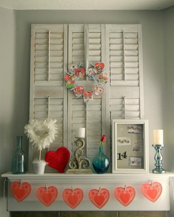 65 -Gorgeous- Valentine's- Day- Mantel- Décor- Ideas_41