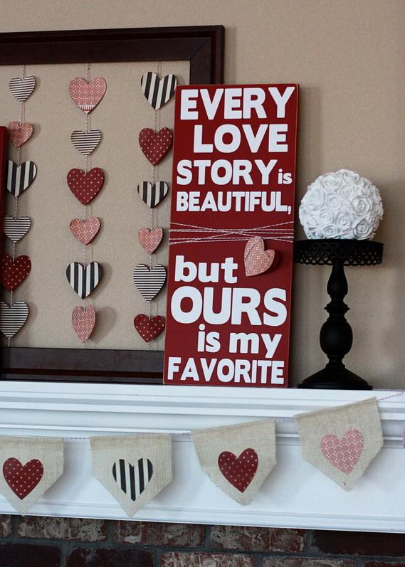 65 -Gorgeous- Valentine's- Day- Mantel- Décor- Ideas_47