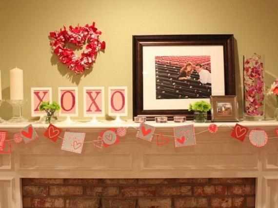 65 -Gorgeous- Valentine's- Day- Mantel- Décor- Ideas_62