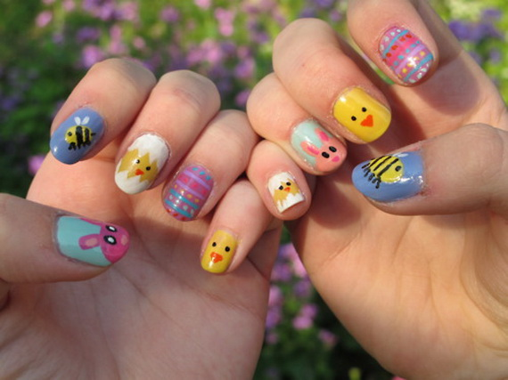 Adorable Easter Egg Nail Art Ideas 26