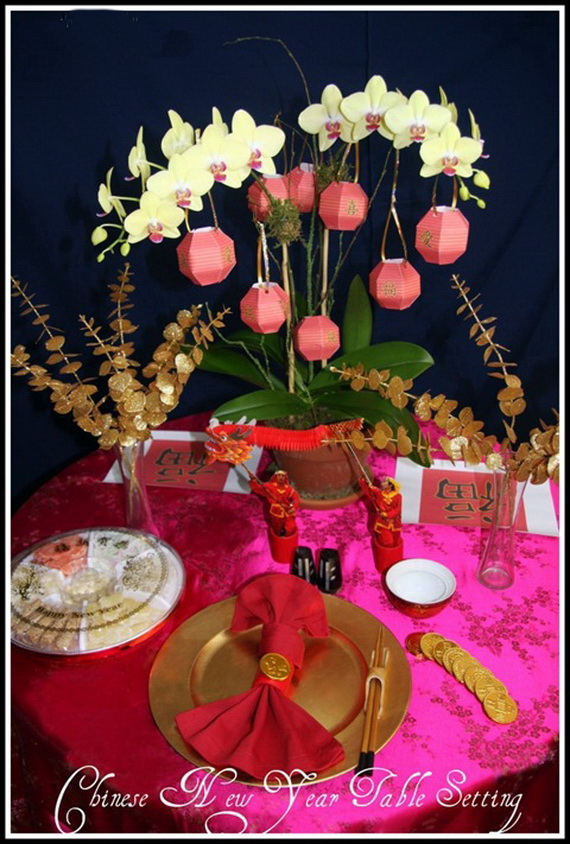 New year table decorations ideas photograph chinese new for Latest decoration ideas