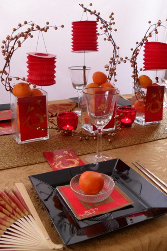 Chinese new year centerpiece ideas family for Asian wedding house decoration ideas