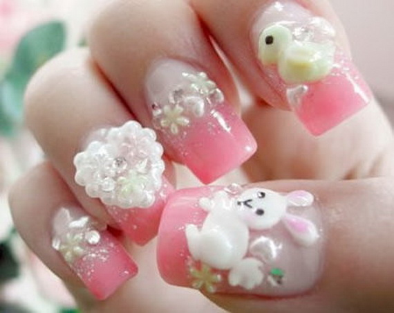 Cute- Easy Easter- Bunny- Nails- Ideas_03