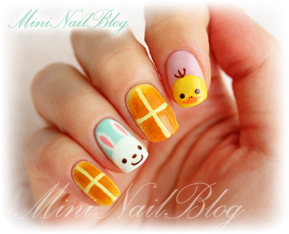 Cute- Easy Easter- Bunny- Nails- Ideas_07