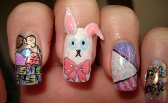 Cute- Easy Easter- Bunny- Nails- Ideas_09
