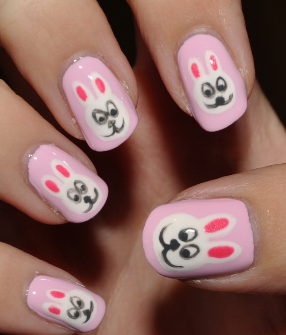 Cute- Easy Easter- Bunny- Nails- Ideas_12