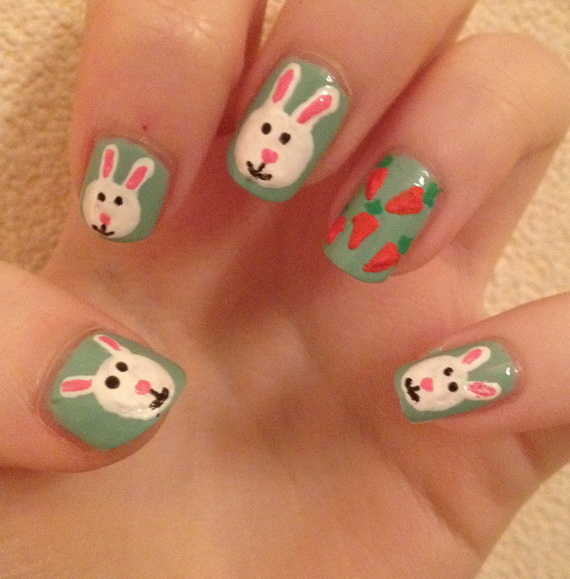 Cute- Easy Easter- Bunny- Nails- Ideas_13