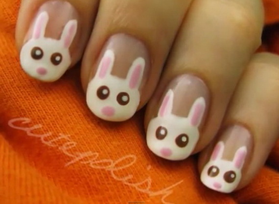Cute Easy Easter Bunny Nail Ideas Family Holiday Net Guide To Family Holidays On The Internet