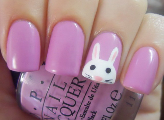 Cute Easy Easter Bunny Nails Ideas 20
