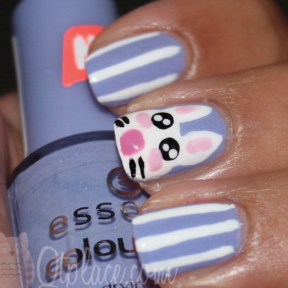 Cute- Easy Easter- Bunny- Nails- Ideas_23
