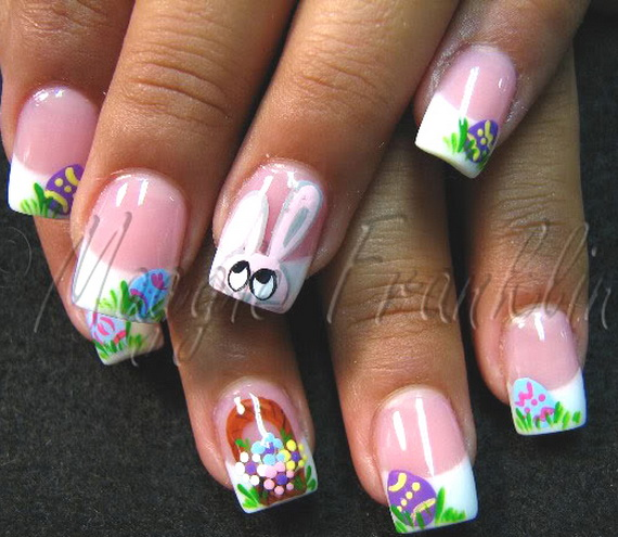 Cute- Easy Easter- Bunny- Nails- Ideas_24