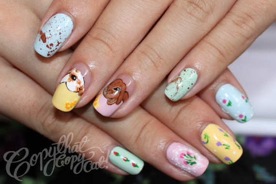 Cute- Easy Easter- Bunny- Nails- Ideas_26