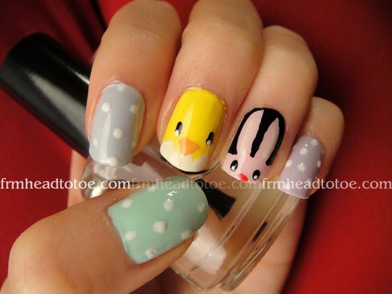 Cute- Easy Easter- Bunny- Nails- Ideas_28