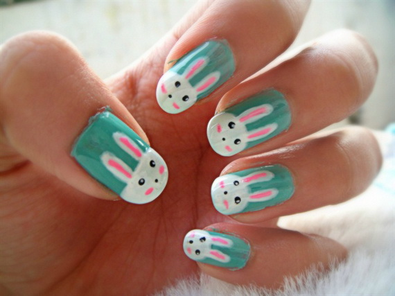 Cute- Easy Easter- Bunny- Nails- Ideas_33