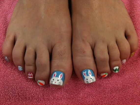 Cute- Easy Easter- Bunny- Nails- Ideas_36