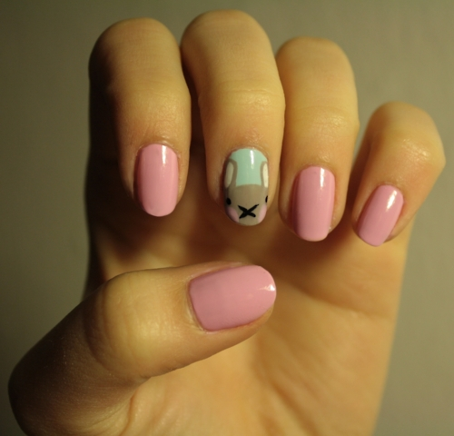 Cute- Easy Easter- Bunny- Nails- Ideas_37