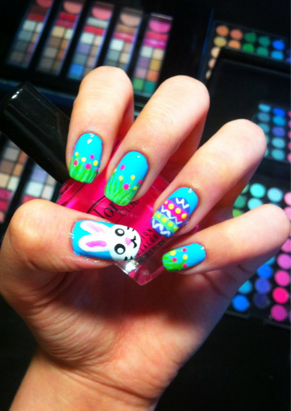 Cute- Easy Easter- Bunny- Nails- Ideas_41