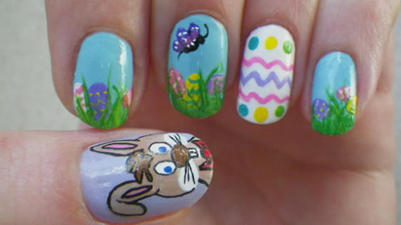 Cute- Easy Easter- Bunny- Nails- Ideas_43