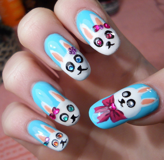 Cute- Easy Easter- Bunny- Nails- Ideas_47