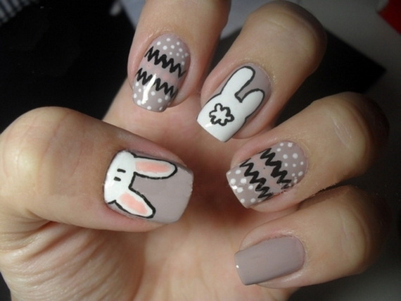 Cute- Easy Easter- Bunny- Nails- Ideas_48