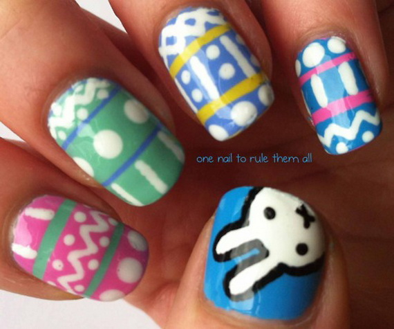 Cute- Easy Easter- Bunny- Nails- Ideas_49