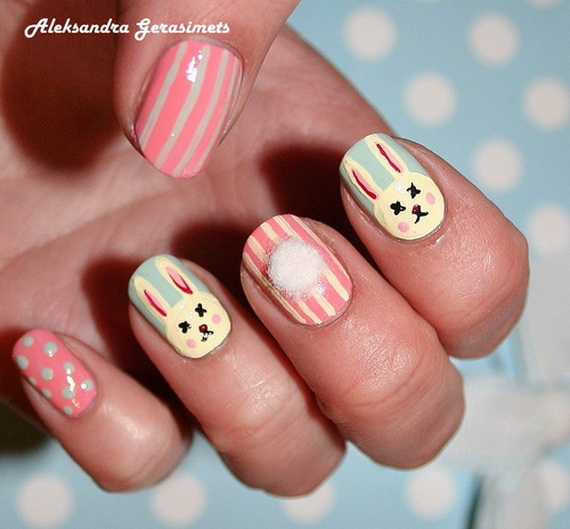 Cute- Easy Easter- Bunny- Nails- Ideas_56