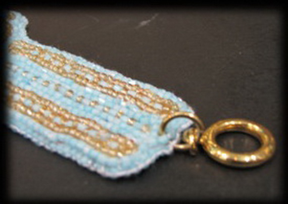 Egyptian jewelry -Bead Embroidered Egyptian Scarab _10
