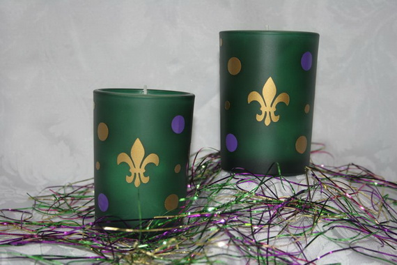 Mardi- Gras- Candle -Decorations