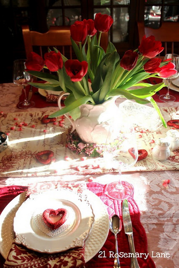 Romantic- Valentineu0027s Day- Table -Setting -ideas_080 & Romantic Valentineu0027s Day Table Setting Ideas - family holiday.net ...
