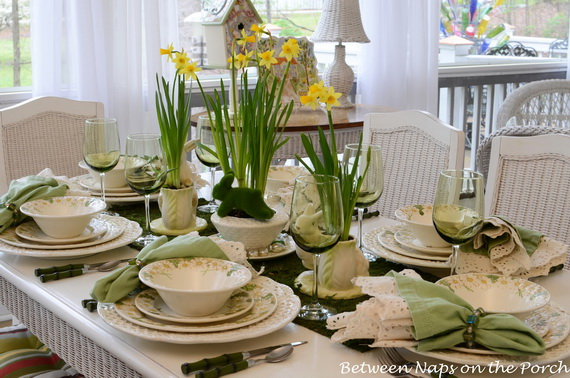 Gorgeous Easter Spring Table Setting Decoration Ideas family