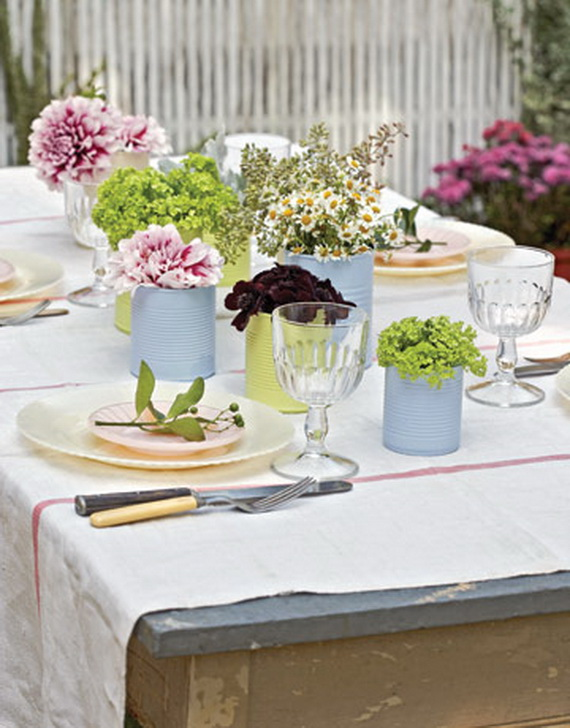 Gorgeous easter spring table setting decoration ideas for Christmas lunch table setting ideas
