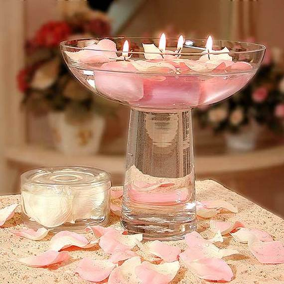 Floating Candles Centerpieces Ideas For Weddings: Floating Flowers And Candles Centerpieces