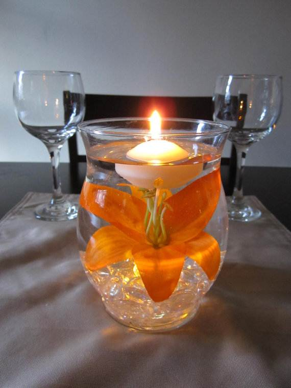 Floating Candle Wedding Table Centerpieces ...