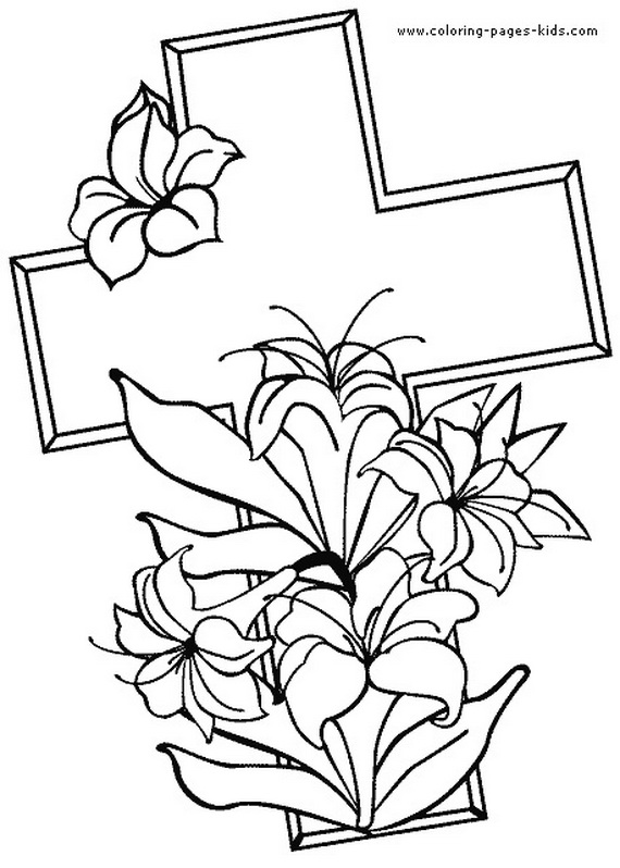 good friday coloring pages and pintables for kids_27 - Religious Coloring Books