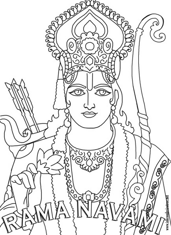 Ram Navami Coloring Pages on india decorating