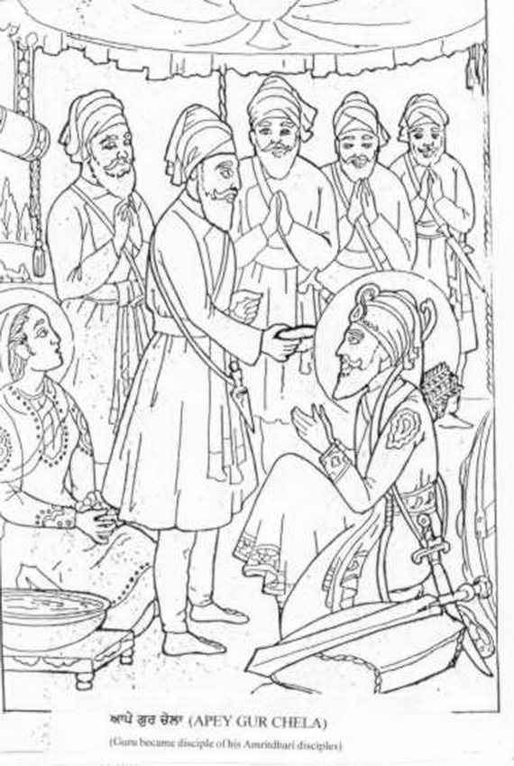 Baisakhi Coloring Pages Vaisakhi Festival Family