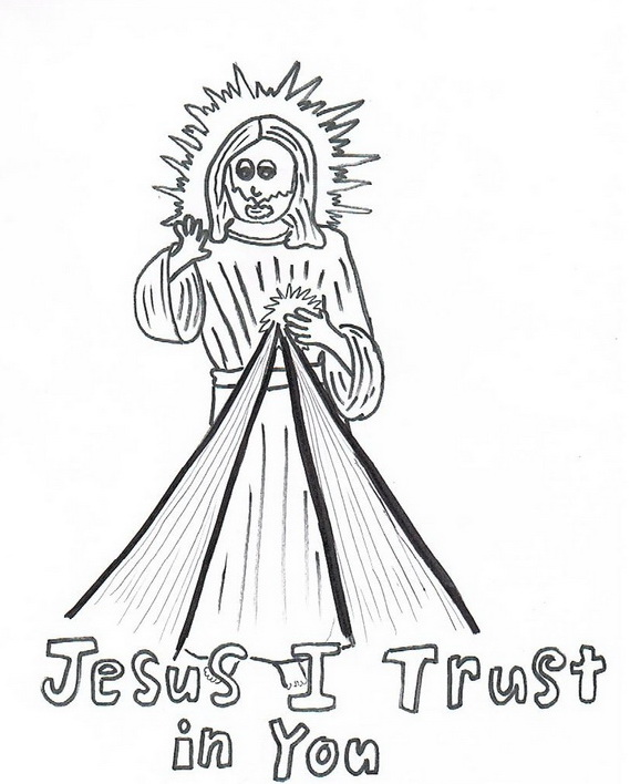 divine mercy coloring page_1