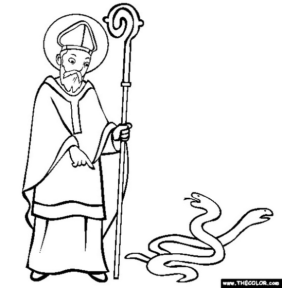 Divine mercy coloring page family to for Coloring pages for st patrick