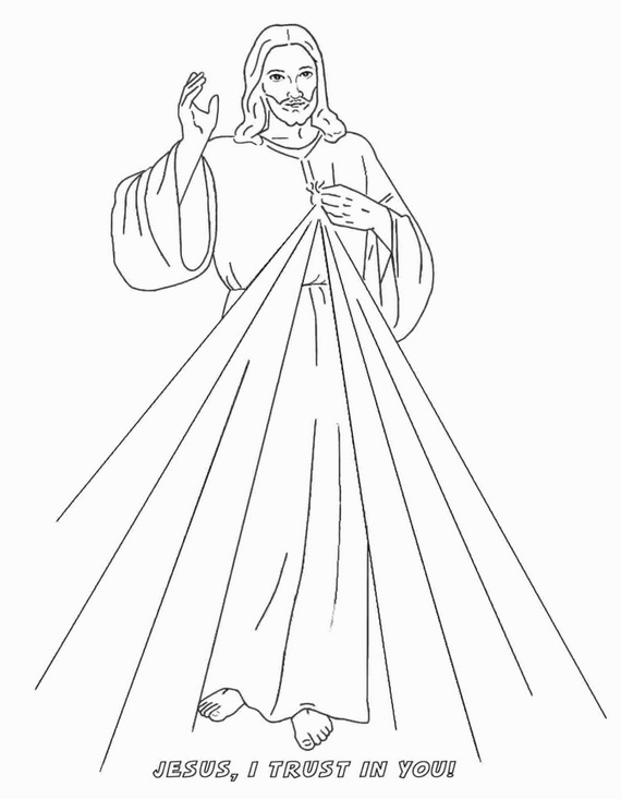 divine mercy coloring page  guide to