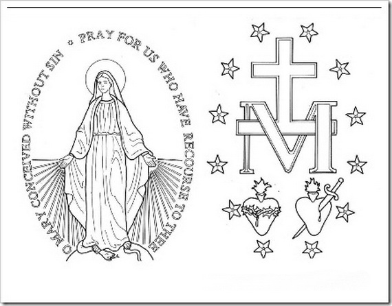 catholic may crowning colouring pages