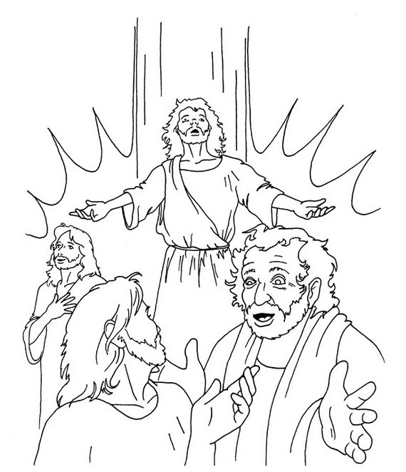 Divine Mercy Coloring Page family