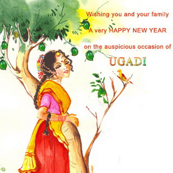 the maharashtrian happy new year gudi padwa greeting