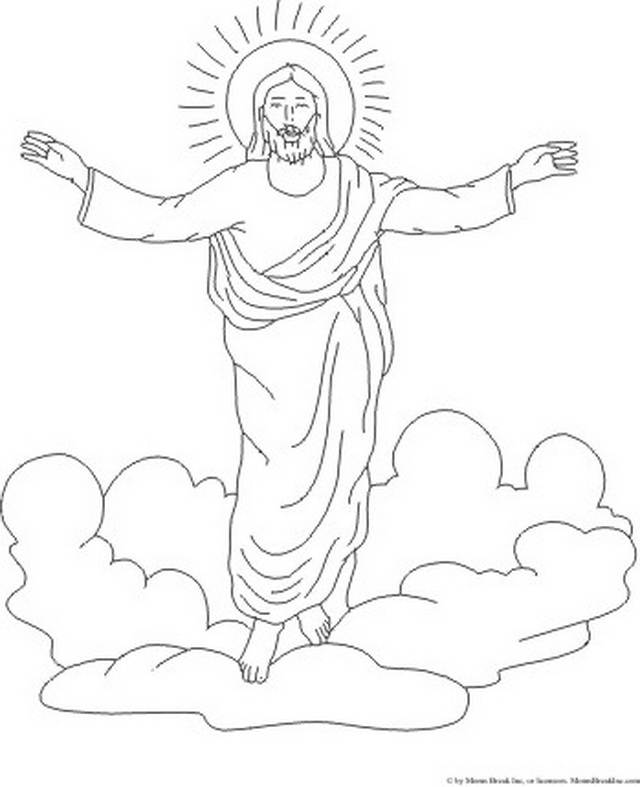 ascension of jesus christ coloring pages_061