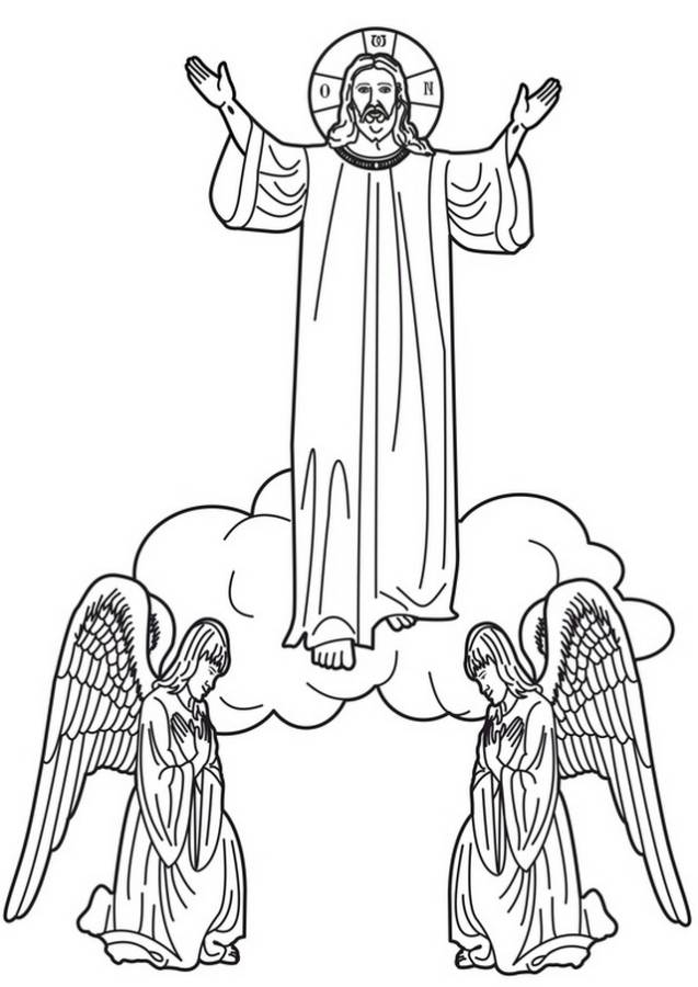 ascension coloring pages of jesus - photo#32